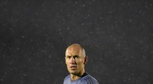 Robben a eu peur pour la vie de sa femme, touchée par le COVID-19. AFP