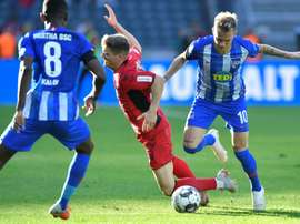 Hertha Berlin midfielder Ondrej Duda scored his sixth goal of the season. AFP