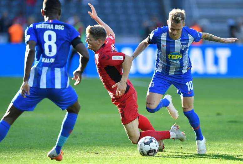 Hertha Berlin midfielder Ondrej Duda scored his sixth goal of the season. AFP
