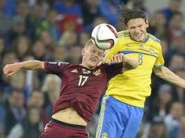 Suecia incluye al 'tocado' Ekdal en lista definitiva para la Eurocopa. AFP