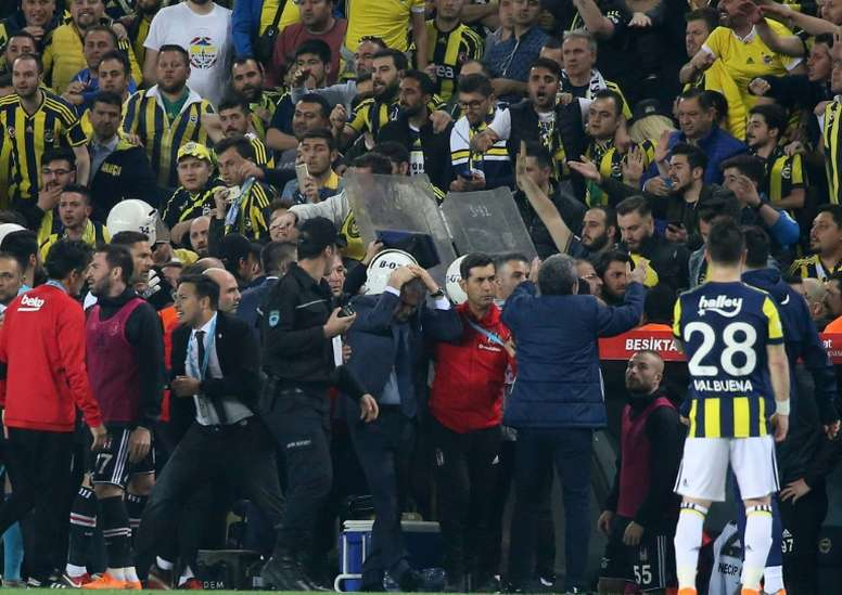 Besiktas are appealing against the decision to complete the game. AFP