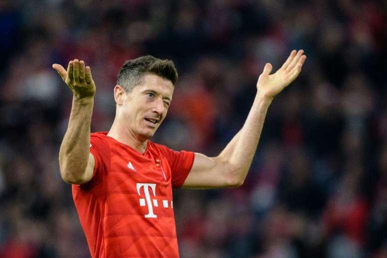 Lewandowski élu joueur du mois en Bundesliga. AFP