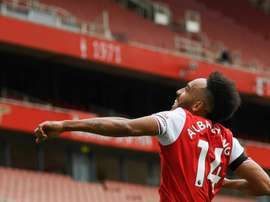 Aubameyang é o goleador do Arsenal. AFP