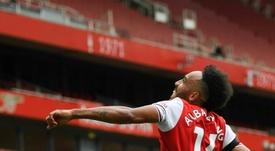 Arteta aseguró que Aubameyang se quiere quedar en el Arsenal. AFP
