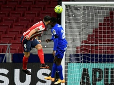 Luis Suarezs winning goal against Getafe was his eighth of the season. AFP
