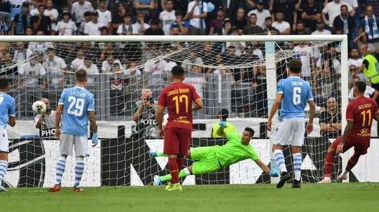Le probabili formazioni di Lazio-Roma. AFP