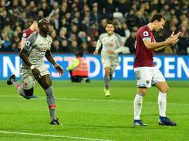 Premier League: prováveis escalações de Liverpool e West Ham. AFP