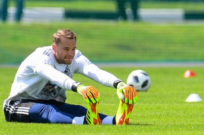 Neuer looked good in training. AFP