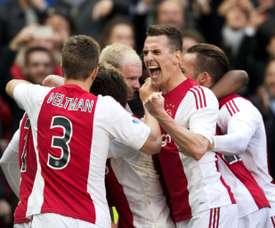 El Ajax sólo ha podido rascar un punto en su partido ante el Excelsior. AFP