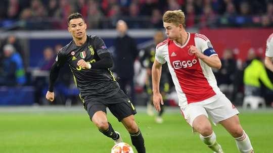 Matthijs de Ligt has joined Cristiano Ronaldo at Juventus. AFP