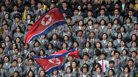 El estadio Kim Il Sung acogió el partido. AFP