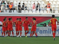 China saved by goalie howler in narrow win over Kyrgyzstan. AFP