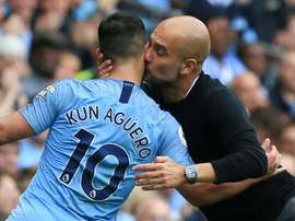 Aguero was on top form. AFP