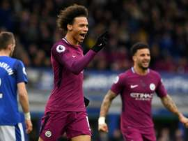 Sane opened the scoring in the fourth minute with a spectacular volley. AFP