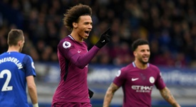 Guardiola says Sane's snub will make him stronger. AFP