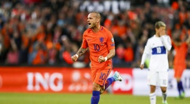 The friendly against Peru will be played in honour of Sneijder. AFP