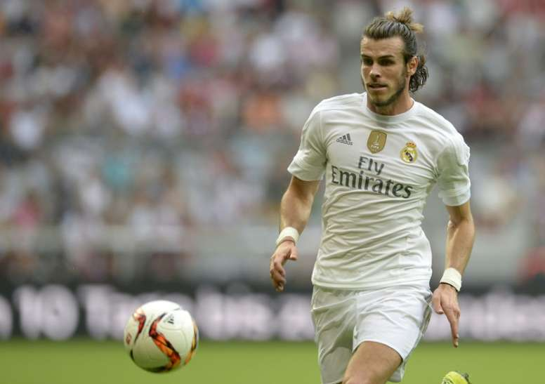 Gareth Bale jugó y marcó en la Audi Cup de 2015 ante el Tottenham. AFP