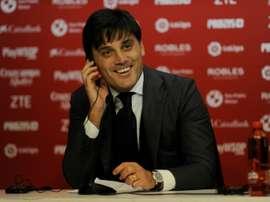 Montella quiere llevarse a un jugador del Milan. AFP