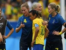 Brasil perdió en los penaltis ante Suecia. EFE