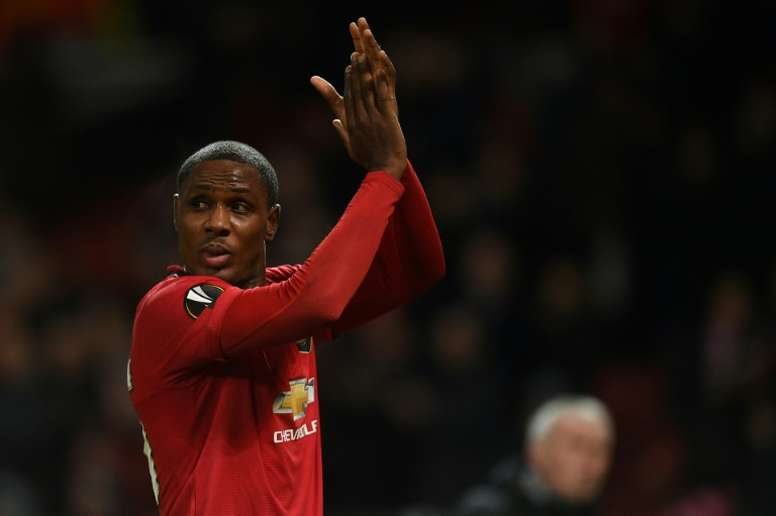 Nigerian striker Odion Ighalo is on loan at Manchester United