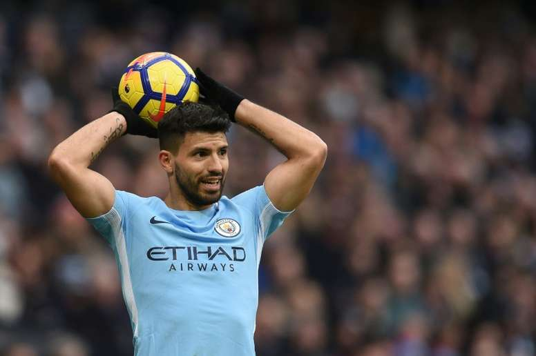 Aguero will miss the clash due to a knee problem. AFP
