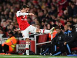Ozil will leave Arsenal on Sunday. AFP