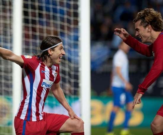 Filipe Luis understood Griezmann's decision to move to Barca. AFP