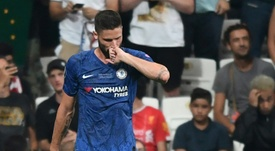 Inter Milan are after Chelsea's Olivier Giroud. AFP