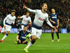 Eriksen scored the only goal of the game to help Tottenham triumph. AFP