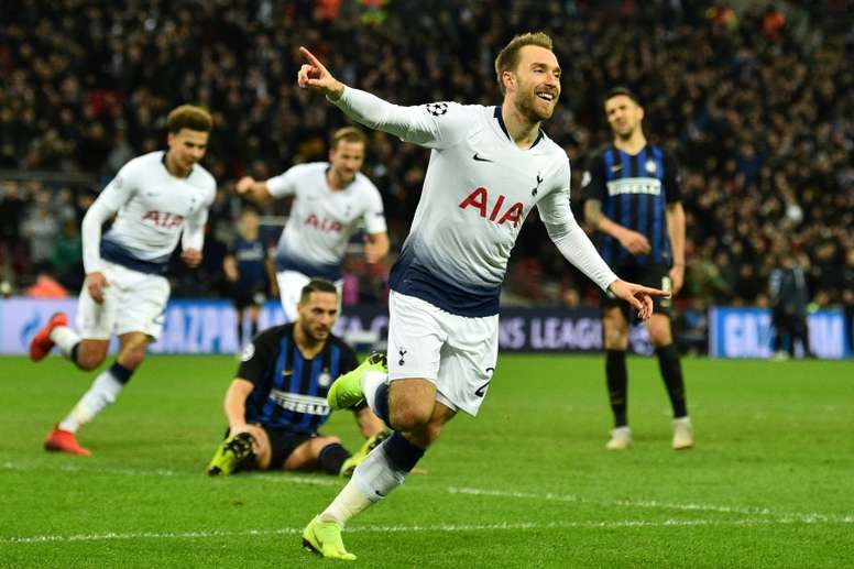 Manchester United is willing to put a lot in for Eriksen. AFP
