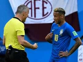 Björn Kuipers se confie sur l'attaquant du PSG et du Brésil. AFP