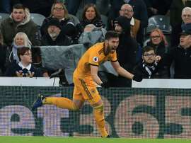 Doherty struck late to claim the points for Wolves. AFP