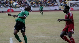Rainford Kalaba (L) has scored six goals this season in the CAF Confederation Cup. AFP