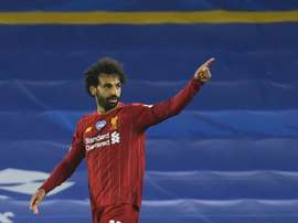 Salah keeps Liverpool's record chase on track. AFP