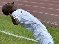 Victor Mbaoma celebrates an Enyimba goal in a 2020 CAF Confederation Cup match. AFP