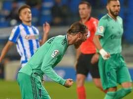Juste une frayeur pour Sergio Ramos. AFP