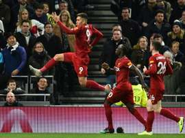 Firmino's goal meant Liverpool claimed another three points at Tottenham. AFP