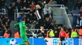 Shelvey put Newcastle level. AFP