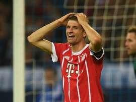 Hertha e Bayern empataram a duas bolas. AFP