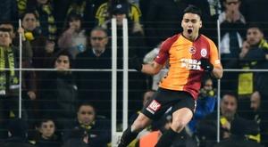 Falcao, ravi d'avoir marqué lors du 'Clásico' turc. AFP