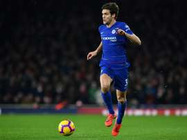 Marcos Alonso was the goalscorer for Chelsea. AFP