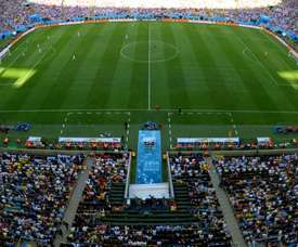 General view of the Maracana pitch taken during 2014 FIFA World Cup
