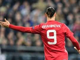 Zlatan Ibrahimovic est forfait jusqu'à la fin de la saison. AFP