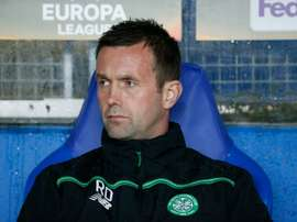 Celtics manager Ronny Deila, seen on the bench prior to a UEFA Europa Leage match in Molde, Norway, on October 22, 2015