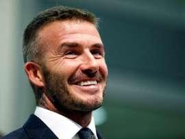 Beckham sonha alto. AFP