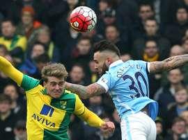 El ex del Norwich Patrick Bamford jugará en el Burnley. AFP