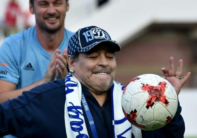 Maradona is no stranger to controversy. AFP