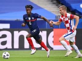 L'Équipe de France contre la Finlande en amical. afp