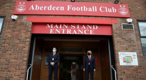 Eight Aberdeen players were fined after breaking COVID-19 rules. AFP