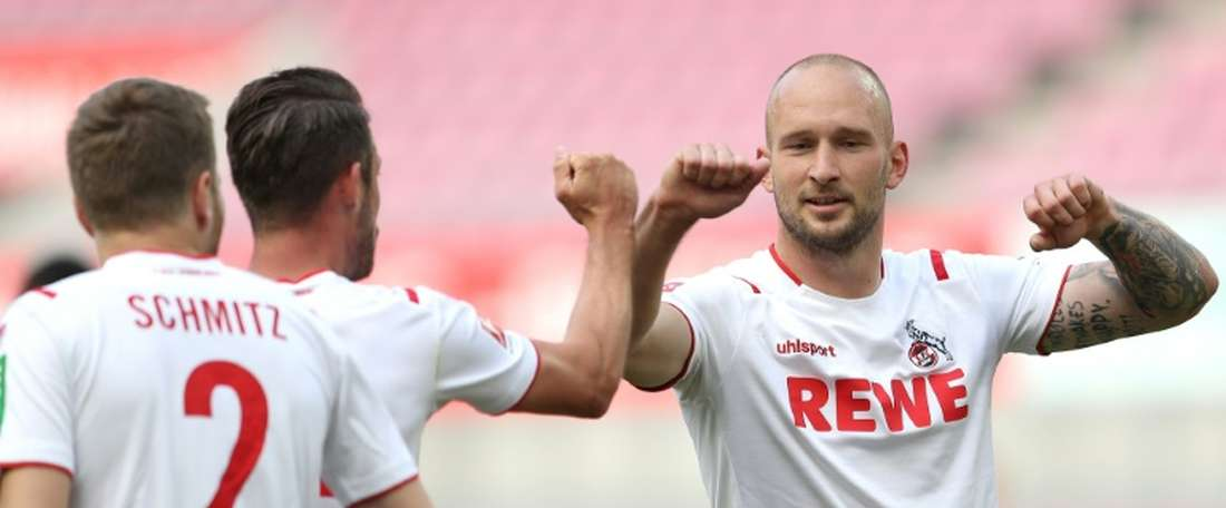 Cologne got a two goal lead, but were pegged back late on by Mainz. AFP